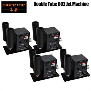 Freeshipping 4 x lot Puissant CO2 Jet Machine 200W Double buse OEM Logo Imprimer Cryofx Cryo Pistolet Mini Taille avec 6 mètres Turn 90V-240V