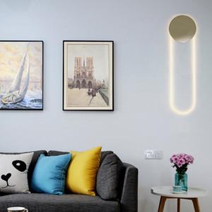 Nordic U-shaped Metal Glass Wall Lamp Luxury Creative Bedroom Bedside Lighting Living Room Home Decoration Fixture