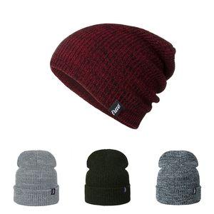 Bonnet tricoté Bonnet acrylique Hommes d'hiver Caps chaud Hat TRUE LOGO skullies mode Hiphop Chapeaux pour hommes, femmes Dropship gros