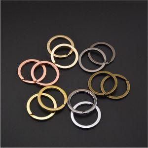 20pcs lot 30mm Multicolor Keyring Split Ring (Never Fade) Key Ring For Keychain Diy Jewelry Making Sleutelhanger Key Rings
