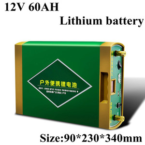 12v 60Ah High Capacity Lithium Battery for Camping Outdoor Power Supply Inverter Car Jump Starter Bank Refrigerator
