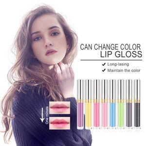 Mirror Color Changing Lip Glaze Moisturizing Non-Stick Cup Waterproof Lip Gloss Liquid Lipstick 2020 New