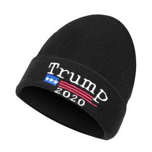 Trump 2020 Beanies Örme Kış Sıcak Caps Amerika Büyük Harfler İşlemeli Mektupları Kafatası kasketleri Cap Unisex Kış Beanie D91001 Isınma tutun