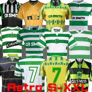 سيلتيك ريترو 1995 97 1998 1999 Soccer Jerseys Home 95 96 97 98 99 قمصان كرة القدم Larsson Sutton Nakamura Keane Black Sutton 2005 06 1989 91