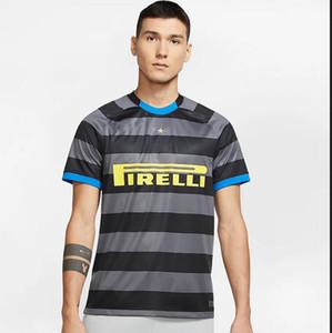 2020 2021 arası futbol forması üçüncü 9. Lukaku 10. Lautaro # 24 ERIKSEN Erkekler futbol gömlek Kısa Kollu Özelleştirilmiş Futbol üniforma