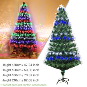 Multi-specification Colorful Optic Fiber Lamp Green Christmas Tree Iron Stand Home Festival Decoration