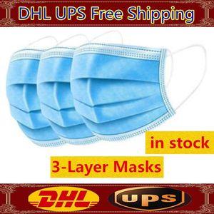 New descartável Máscara Facial 3 Camadas Dustproof Facial Máscaras capa de protecção anti-poeira descartável Salon Earloop Mouth máscara máscaras partido