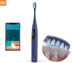 XIAOMI MIJIA Oclean X برو سونيك فرشاة الأسنان الكهربائية تبييض الأسنان الهزاز لاسلكي الرسوم 40 يوما الأشغال الذكية APP بالموجات فوق الصوتية