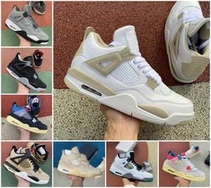 2020 Union X Sail 4 Travis Scotts Herren-Basketball-Schuhe 4s Bred UNDEFEATED UNC White Cement Guava Ice Noir Jumpman Lizenz Rasta Turnschuhe