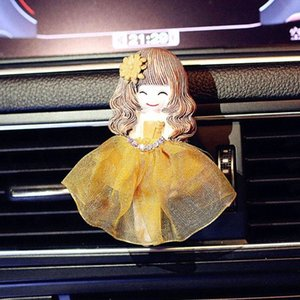 Car Fragrance Clip Lovely Dancer Wedding Ddress Girl Air Vent Freshener Auto Interior Outlet Decoration Accessory Perfume Gifts KBZS#