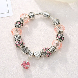 12 colors 925 Silver Field of Daisies Murano Glass&Crystal European Charm Beads Fits European Style Bracelets AA01