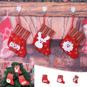 30#Christmas Socks Gift Bag Boutique Candy Decorations Gift Bag Christmas Snowman Deer Socks Pendant party decoration navidad
