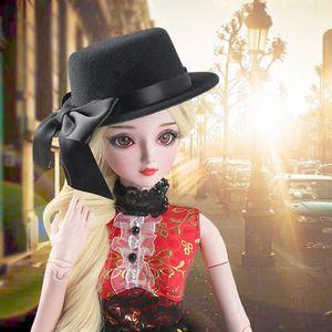 Bowler Hat Cap Аксессуары для 60см Ночь Лолита 1/3 BJD SD YOSD Dollfie куклы