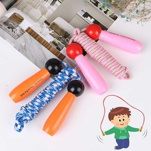 2.8m Jump Seile Holz Griff Außen Sport Bodybuilding Fitness Springseil Spielzeug 2 Farben