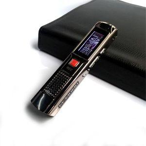 Estéreo profesional Mini Digital Audio Recorder Grabación de larga 8gb de acero de grabación de la pluma grabadora de voz reproductor de mp3