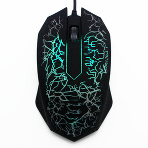 HLF M1 Gaming Mice Colorful Lights USB Wired Mice Brighting Lamp USB Gaming Mouse For Computer Laptop Game Mouse with Retail Box