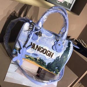 Известные торговые марки леди плечо сумка Классический Ван Гог Пшеничное поле картины маслом Crossbody Роскошные сумки конструктора плеча женщин сумка Бостон сумки