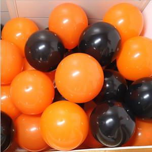 10 Halloween Black Orange Latex Balloon Pumpkin Skeleton Halloween Party Decoration Helium Balloon Kids Toy Bar Party Decoration
