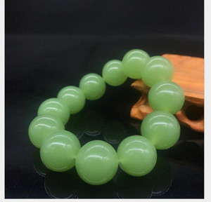 Outer Mongolian material bracelet men and women single circle jasper aventurine jade white jade bracelet stall running rivers and lakes 20mm