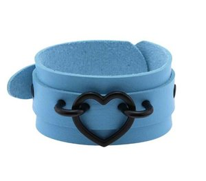 XEONGKVI Europe America Double PU Leather Love Wrist Bracelet Personality Fashion Accessories Lovers Hand66