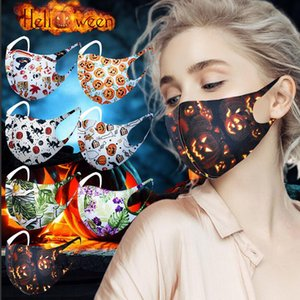 Masks 3D Christmas Reusable Fashion Face Mouth Mask Cover Halloween Respirator Silk Anti-bacterial Washable Ice Printing Cotton PM2.5 Wmxpc