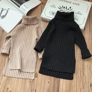 2020 New Arrival Girl Spring Autumn Winter Sweater Clothes Solid Color Baby Girls Turtleneck Clothes High Quality