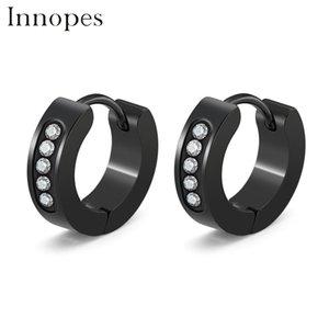 Dichiarazione Earrings Brincos Innopes Classic zircone orecchini a cerchio in acciaio inox cerchio delle donne del migliore regalo