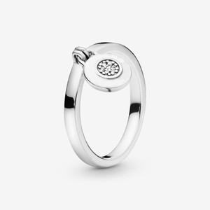 New Brand 100% 925 Sterling Silver Round Padlock Ring For Women Wedding Rings Fashion Jewelry