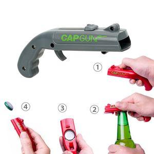 Обжиг Cap Gun Бутылка открывалка бутылки пива Open Capgun Форма Творческий Drink Открытие Shooter Бар на открытом воздухе Празднование Инструменты