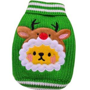 Polyester-Baumwolle Hundekleidung Haustier-Strickjacke Mode-Weihnachtskleidung-Kleid Netter Hund Knitwear