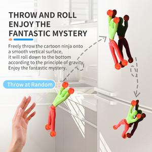 Engraçado rolando brinquedos Escalar uma parede cor ninja pessoas de alta qualidade entretenimento divertido presente brinquedo de criança