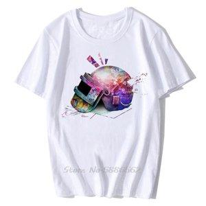 Tre Livello Casco maglietta artistico casuale Homme bianco Vincitore manica corta Pubg Winner Chicken Dinner divertente maglietta degli uomini