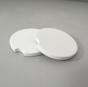 Automobil-Keramik-Untersetzer Blank Keramik kreative Notch Mat Weiß Kissen Coasters Teacup Wohnkultur Zubehör 6.6 * 6.6cm HHD1499