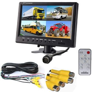 """Uvusee DC12V-24V 9"""" LCD Monitor 4CH 4-Pin Aviation AV video input For Car Truck vehicle Rear review Surveillance System"""