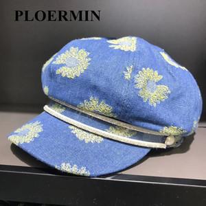 Kadınlar Kot Newsboy Kadın Sonbahar Vintage Ressamlar Şapka Sekizgen Sürüş Casual Gatsby Pamuk Cap Erkekler Caps Şapka