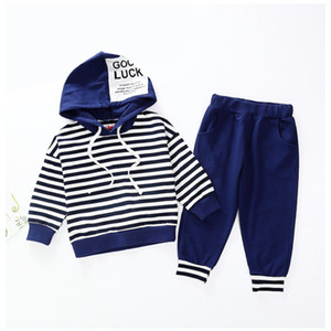 Infant suit Baby Clothing Set for Boys Gentleman suit Summer Casual Clothes Set stripe T-shirt Top Shorts Suits Kids Clothes