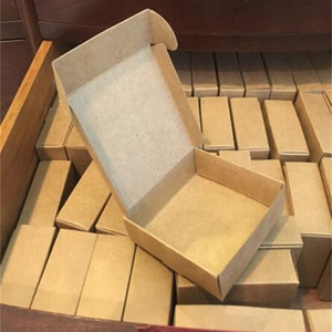 100pcs Kraft paper gift packaging box custom carton cardboard box handmade soap Jewelry Candy packages paper box small T200917