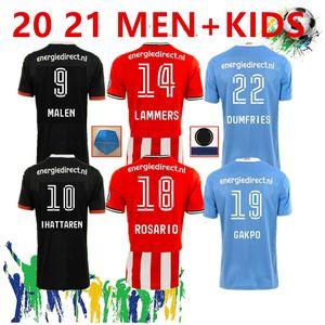 ПСВ 20 21 трикотажные изделия футбола 2020 2021 Malen Камиза де FUTEBOL IHATTAREN Дамфрисе GAKPO Брума ЛАММЕРС Мужские рубашки футбол дети комплект