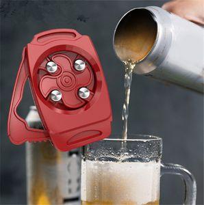 Universal Topless Can Opener Hand held Portable Beer Can Opener Ez-Drink Remover Bottle Opener Topless beer can Remover Black Red Grey