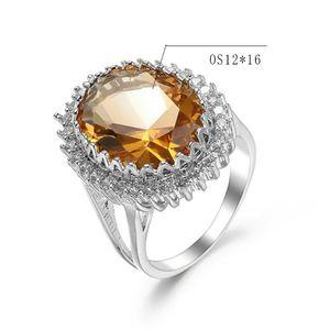 Элегантный Radiant игристое Кубический циркон камень Женщины кольцо серебряный цвет ретро гипербола Полихроматическое Большой CZ Кольцо для женщин ювелирные изделия