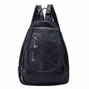 Senhora selvagem FGGS-Fashion Shoulder Bag Grande Capacidade Casual Personalidade Saco pequeno fresco Backpack 5cQe #