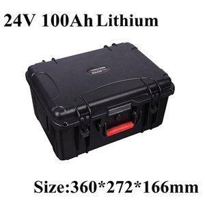 24V 100AH Electric bicycle Lithium ion Battery Solar Golf Car lipo scooter lights solar ups power + 10A charger