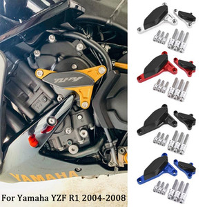 CNC Motorcycle Engine Stator Case Saver Cover Crash Pad Protector For YZF-R1 2004 2005 2006 2007 2008 YZF R1 Frame Slider