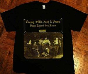 Vintage Crosby Stills Nash And Young 1970 T-shirt Dejavu Reprint (1)