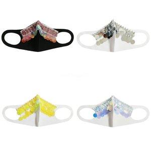 Женщины Девушки Необычные Магия Защитная маска для лица Ночной клуб Показать Блестки партии Cosplay DesignerFace маска # 982