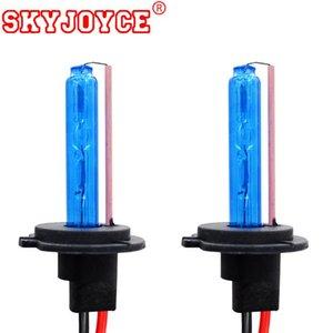SKYJOYCE 35W 55W AC HID Xenon Bulbs H11 H1 3 4 Xenon H7 Deep Blue 30000k H4 Yellow Pink Purple Green 4300K-10000K H27
