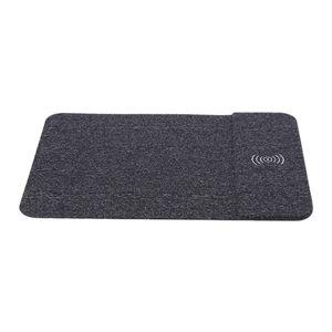 Hızlı Smartphone için Mouse Pad Mat PU Deri Mousepad Şarj Mouse Pad Cep Telefonu Kablosuz Şarj Şarj 10W Kablosuz