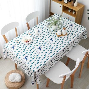 YRYIE Polyester Oilcloth Waterproof Checkered Tablecloth Black And White Kitchen Dinning Decorative Table Cover Restaurant