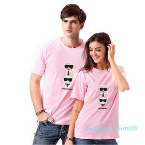Smzy Karl T-shirt Summer Tag-free Girl T Shirts Fashion Funny Print Tshirt Boy White Casual Women Cheap T-shirts d09