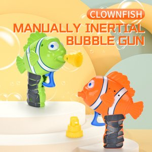 Kids Bubble Gun Cartoon Soap Water Fish Bubble gun Summer Funny Magic Bubble Maker Gun Outdoor Toys For Children